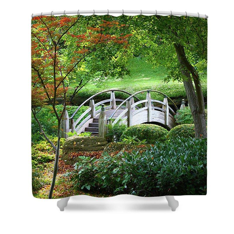 Joan Carroll Shower Curtain featuring the photograph Fort Worth Botanic Garden by Joan Carroll