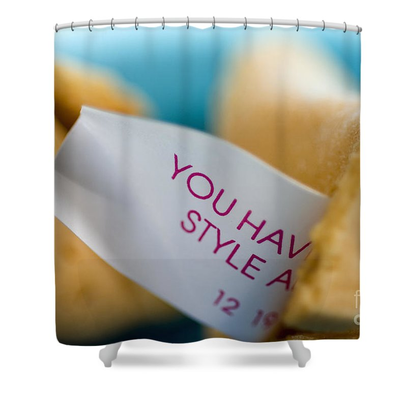 American Shower Curtain featuring the photograph Fortune Cookie by Ray Laskowitz - Printscapes