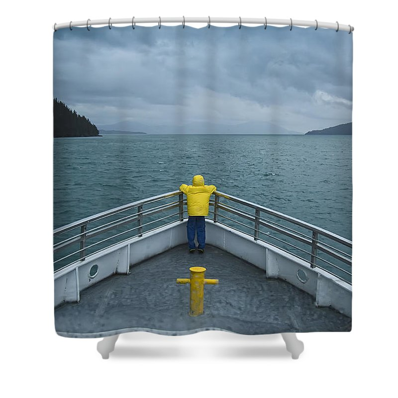 Photograph Shower Curtain featuring the photograph Forward Lookout by David Wagner