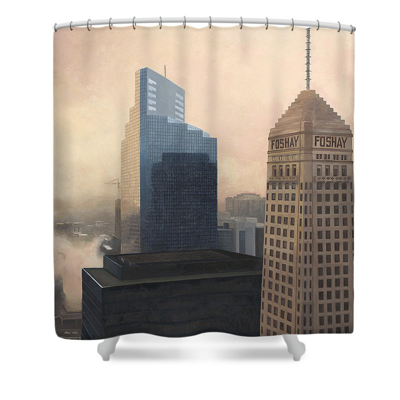 Minneapolis Shower Curtain featuring the painting Foshay by Nathan Walsh