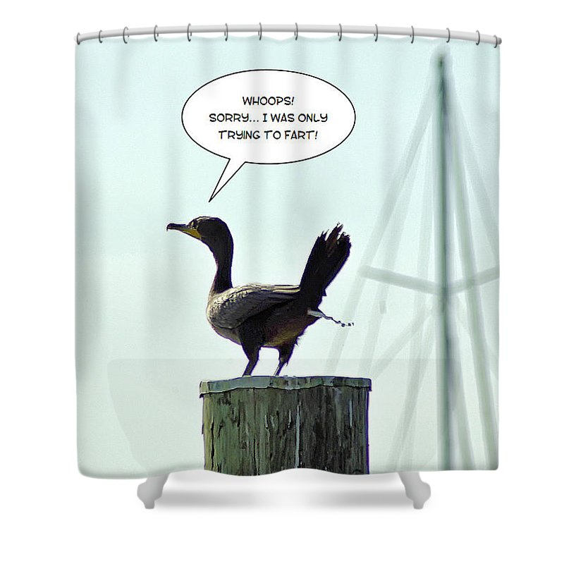 2d Shower Curtain featuring the photograph Foul Fowl by Brian Wallace