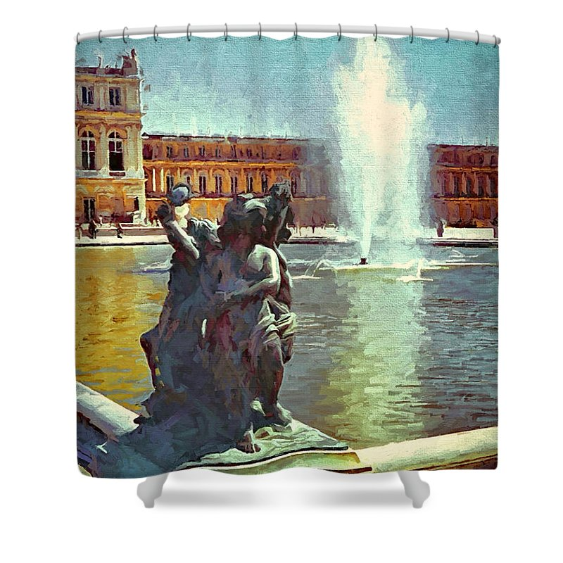 France Shower Curtain featuring the photograph Fountain At Versailles by Gary Nelson