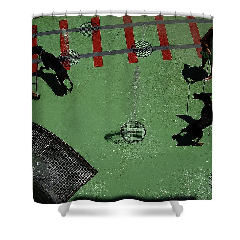 Fountain Shower Curtain featuring the photograph Fountain by Flavia Westerwelle