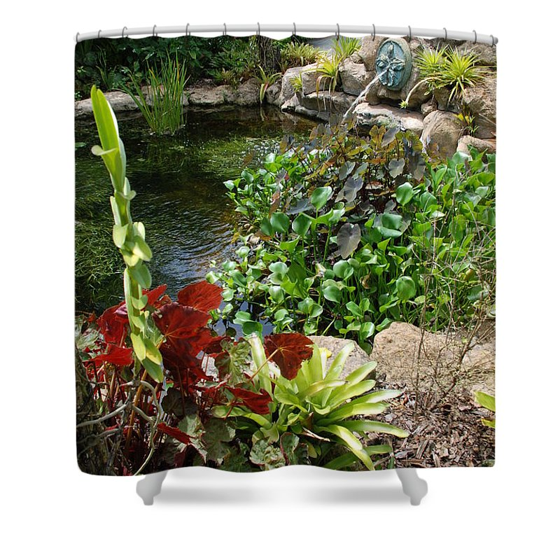 Macro Shower Curtain featuring the photograph Fountain Flowers by Rob Hans