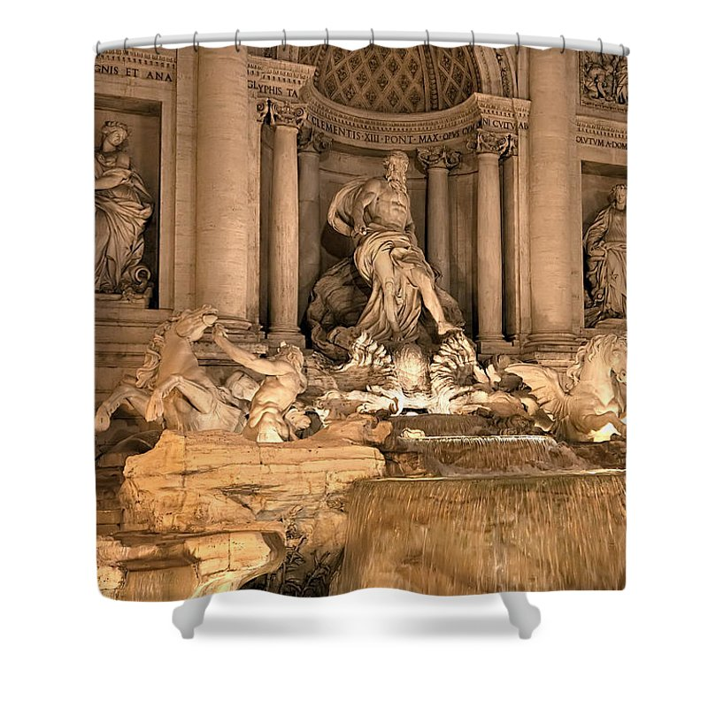 Italy Shower Curtain featuring the photograph Fountain Lights by Janet Fikar