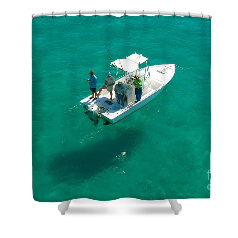 Fishing Shower Curtain featuring the photograph Four Fishermen by David Lee Thompson