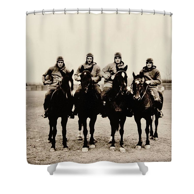 Notre Dame Shower Curtain featuring the photograph Four Horsemen by Benjamin Yeager