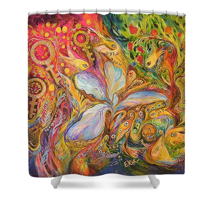 Original Shower Curtain featuring the painting Four Periods Of Day by Elena Kotliarker