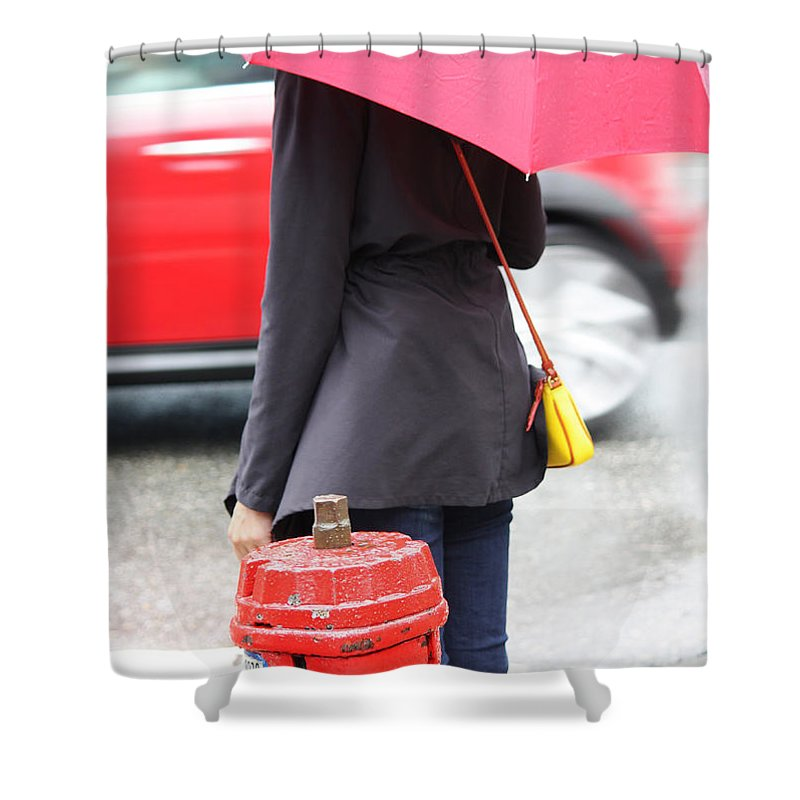 Street Photography Shower Curtain featuring the photograph Four Thirty by The Artist Project
