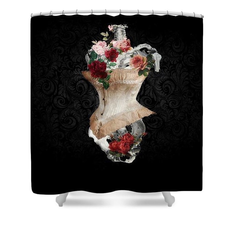 Victorian Shower Curtain featuring the digital art Foxy by Tiffaney Porter