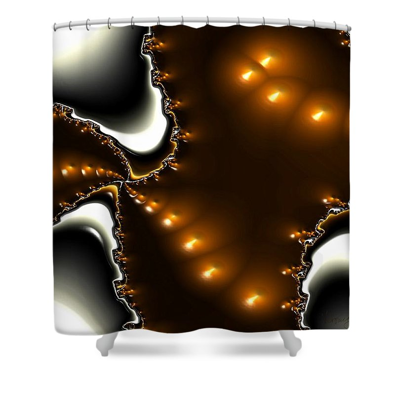 Nest Eggs Fractals Jewels Shower Curtain featuring the digital art Fractal 2 by Veronica Jackson