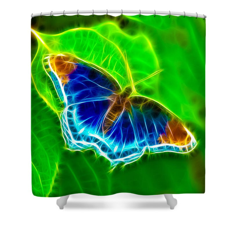 Butterfly Shower Curtain featuring the photograph Fractal Butterfly by Rich Leighton