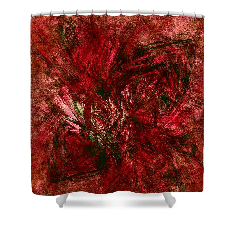 Christmas Shower Curtain featuring the digital art Fractal Christmas Bow by Diane Parnell