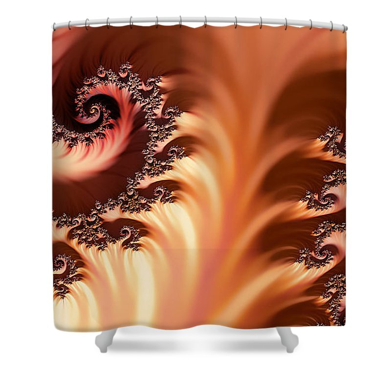 Clay Shower Curtain featuring the digital art Fractal Desert by Clayton Bruster