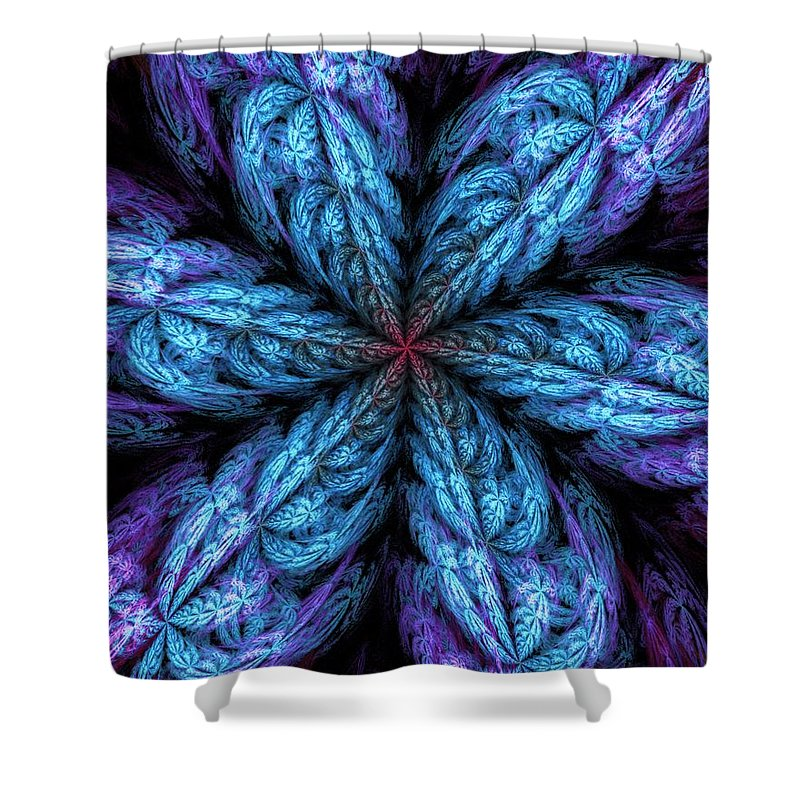Digital Painting Shower Curtain featuring the digital art Fractal Fantasy 02-13-10-a by David Lane