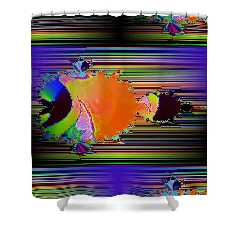 Fractal Shower Curtain featuring the photograph Fractal Fishy by Tim Allen
