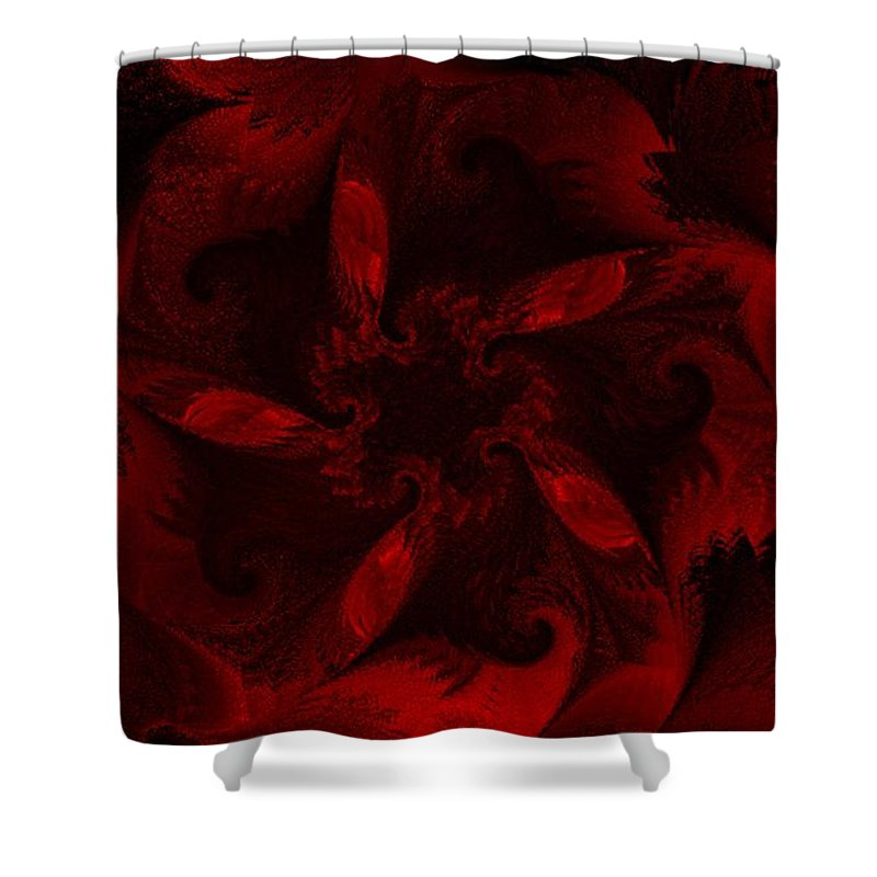 Abstract Digital Painting Shower Curtain featuring the digital art Fractal Garden 18 by David Lane