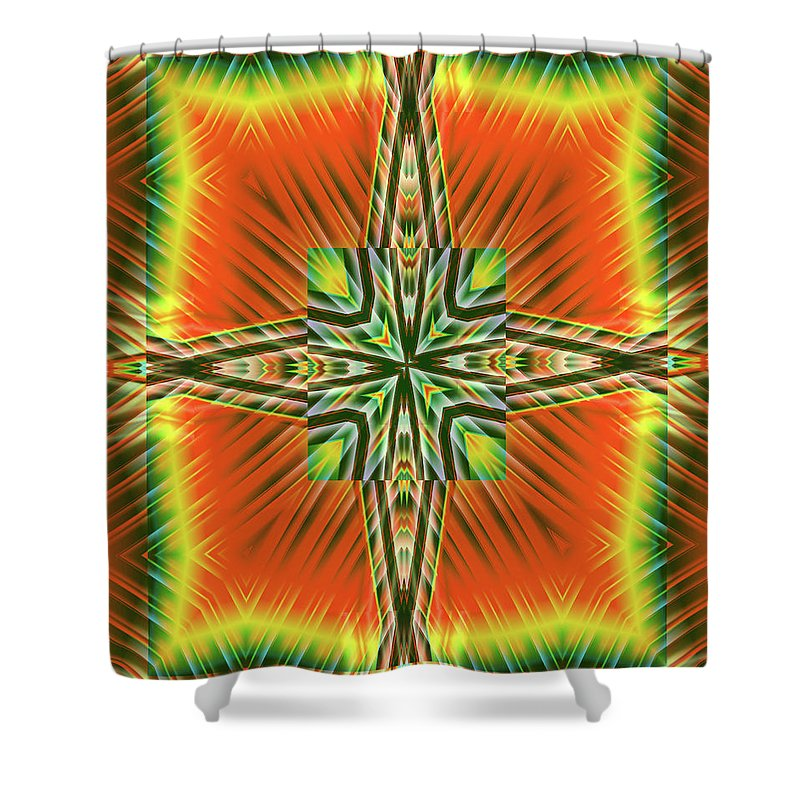Fractal Art Shower Curtain featuring the digital art Fractal Reviews by Mario Carini