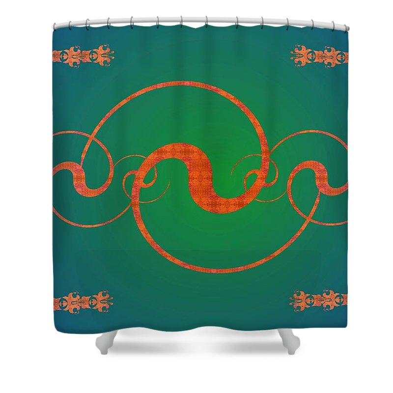 Yin Shower Curtain featuring the digital art Fractal Yin And Yang by Christopher Jay