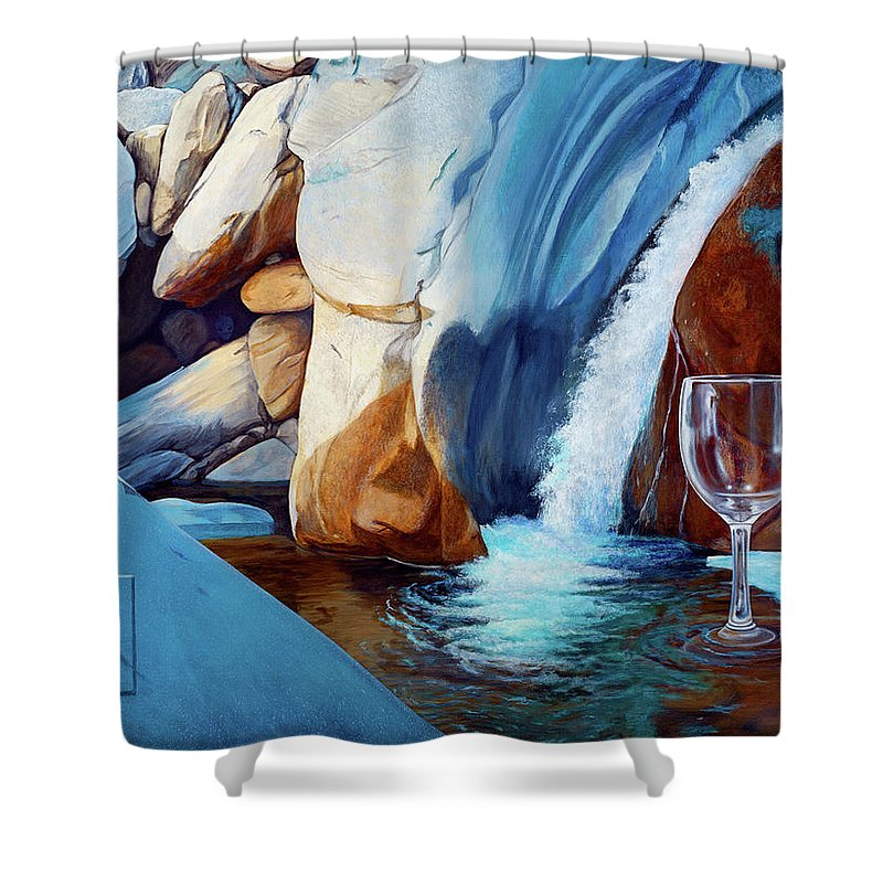 Landscape Shower Curtain featuring the painting Fragile Moments by Snake Jagger