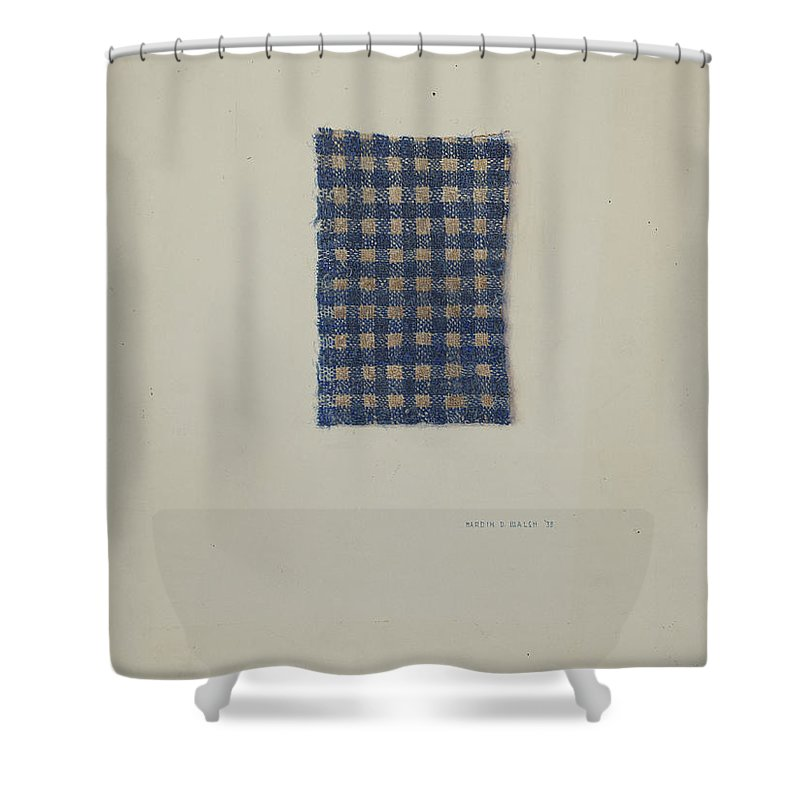 Shower Curtain featuring the drawing Fragment Of Comforter by Hardin Walsh
