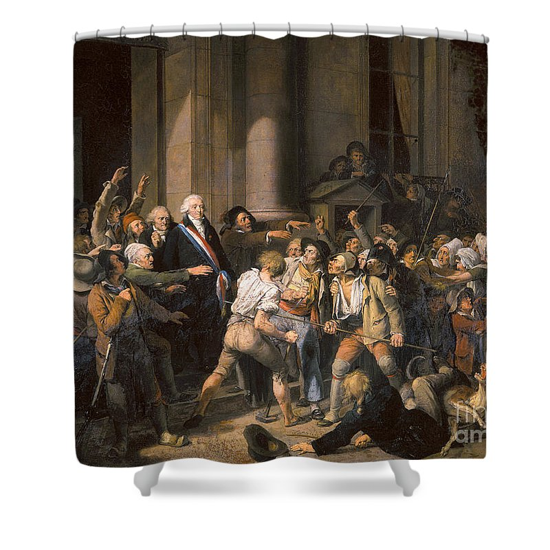 1793 Shower Curtain featuring the photograph France: Bread Riot, 1793 by Granger
