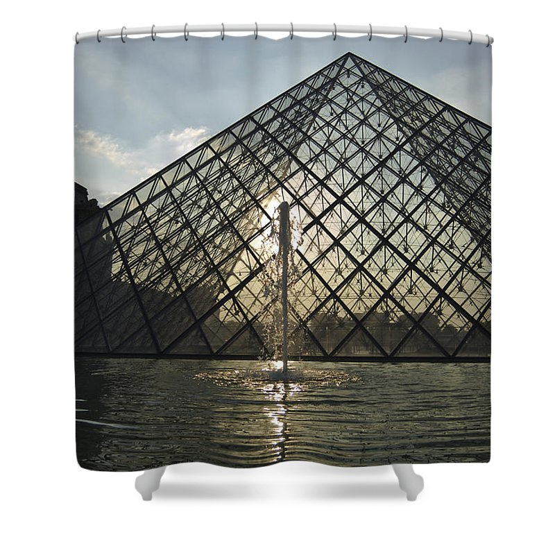 Architecture Shower Curtain featuring the photograph France, Paris The Louvre Museum by Keenpress