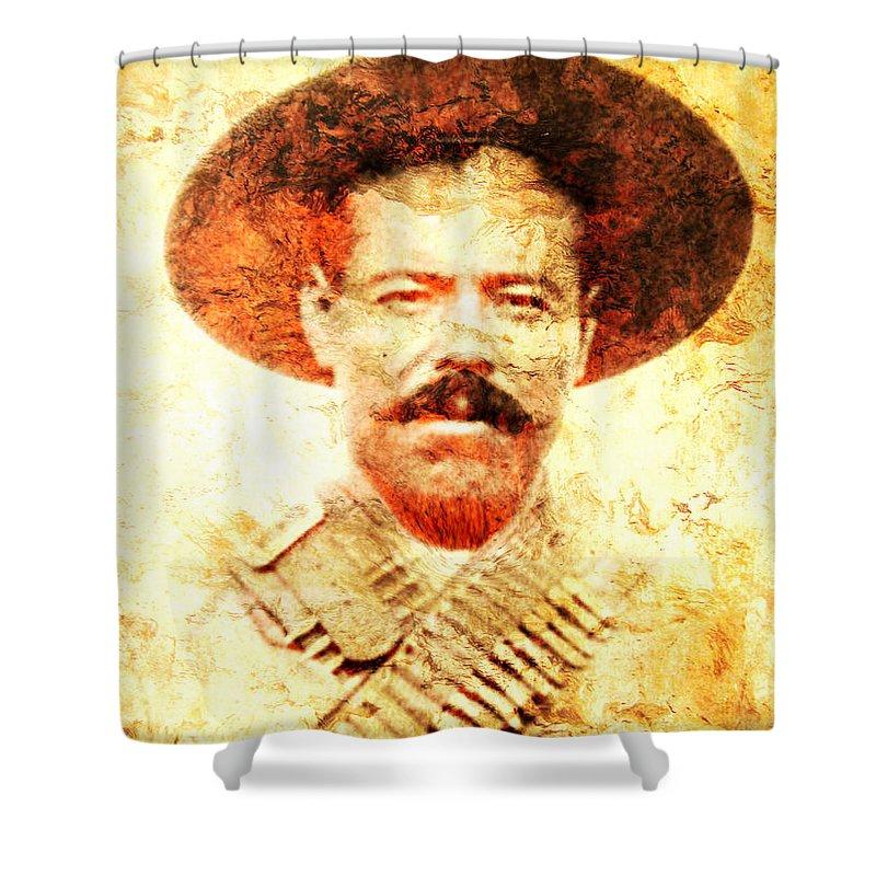 Pancho Villa Shower Curtain featuring the photograph Francisco Villa by J - O  N  E