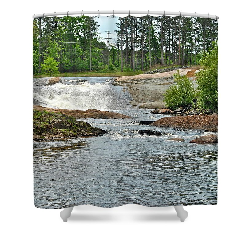 Waterfall Shower Curtain featuring the photograph Frank J Russel Falls 2 by Michael Peychich
