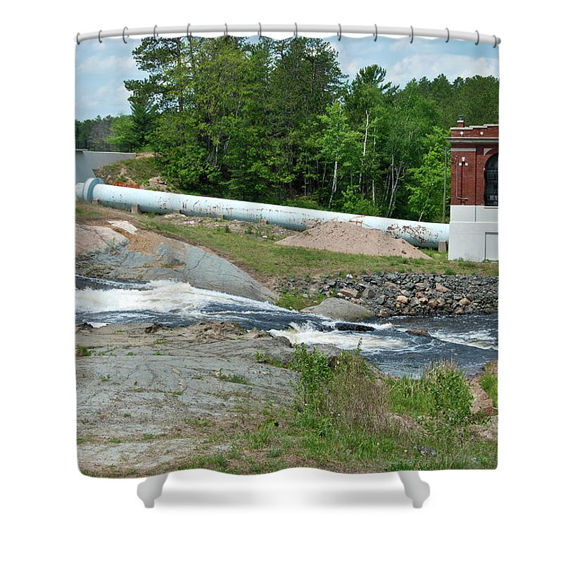 Waterfall Shower Curtain featuring the photograph Frank J Russell Falls by Michael Peychich