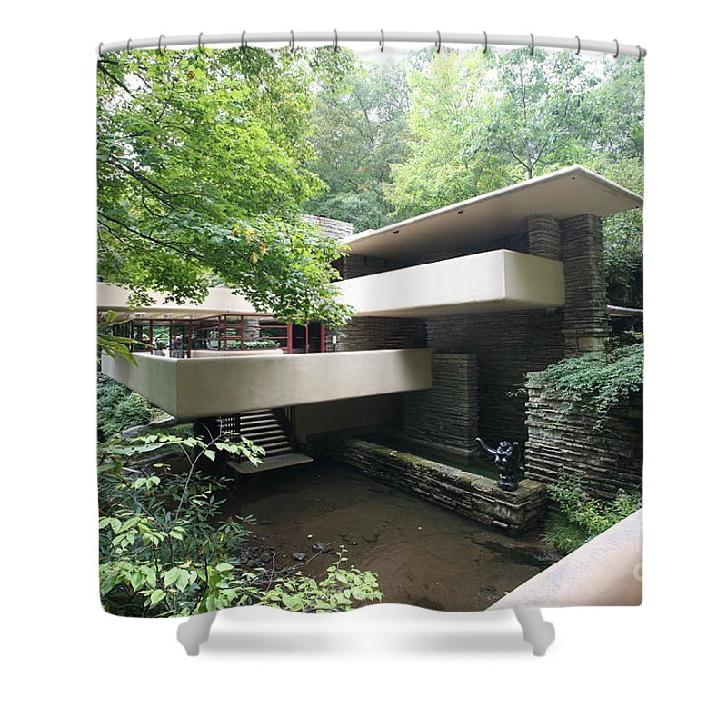 Falling Water Shower Curtain featuring the photograph Frank Lloyd Wright Fw by Chuck Kuhn