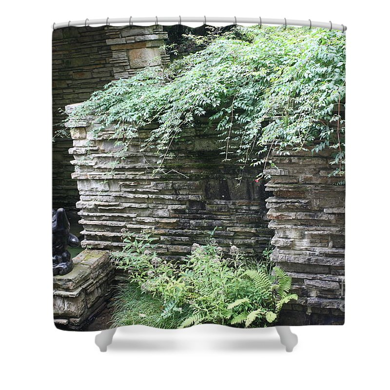 Falling Water Shower Curtain featuring the photograph Frank Lloyd Wright Fw V by Chuck Kuhn