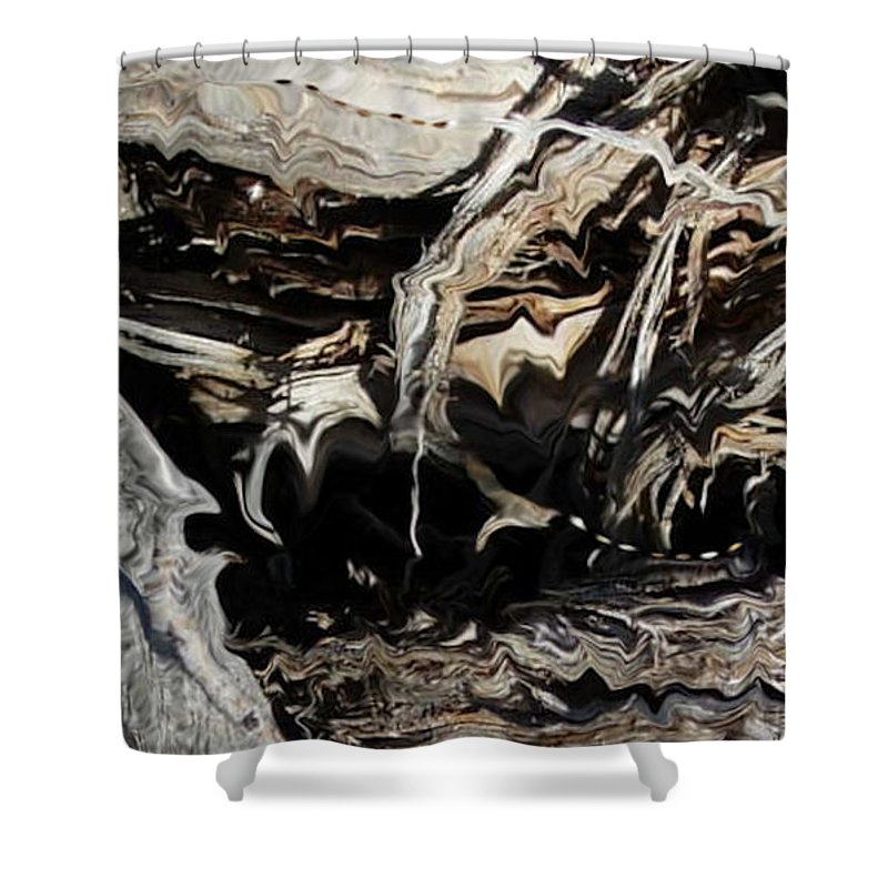 Abstract Art Shower Curtain featuring the photograph Frayed and Distracted Thoughts by Stephanie H Johnson