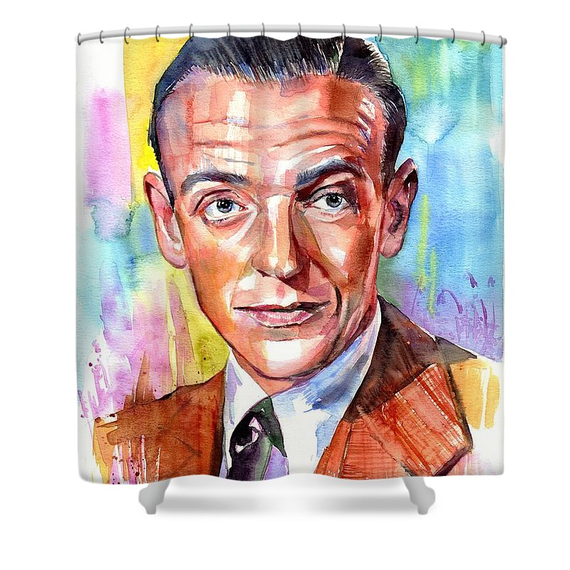 Fred Astaire Shower Curtain featuring the painting Fred Astaire Painting by Suzann Sines