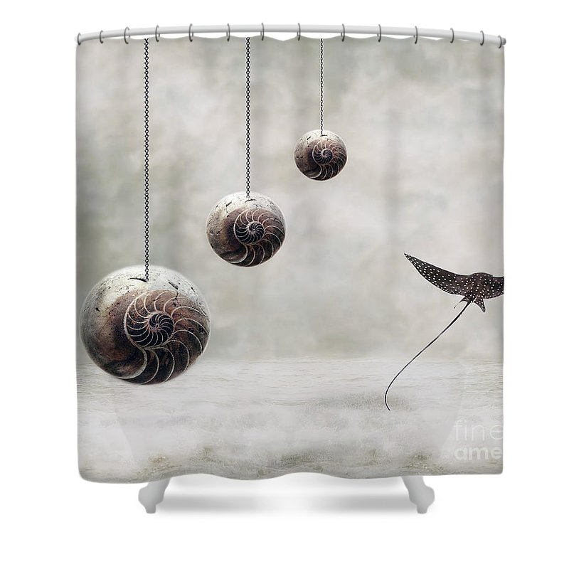 Surrealism Shower Curtain featuring the photograph Free by Jacky Gerritsen