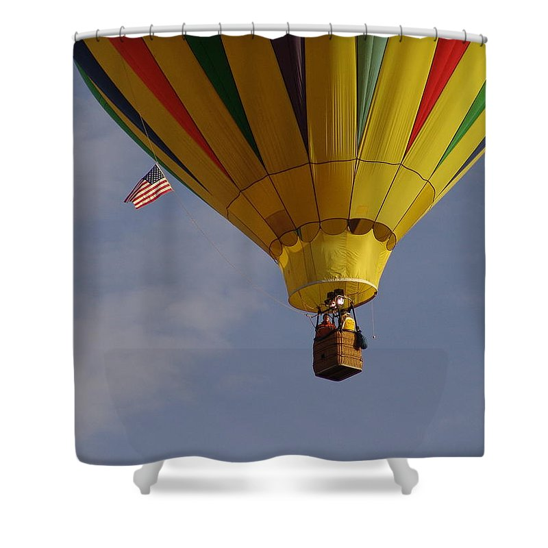 Balloon Shower Curtain featuring the photograph Freedom by Carol Milisen