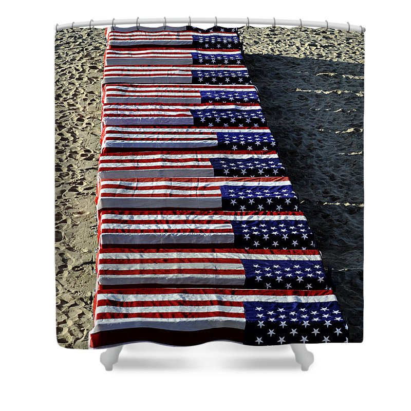 Clay Shower Curtain featuring the photograph Freedom Costs by Clayton Bruster