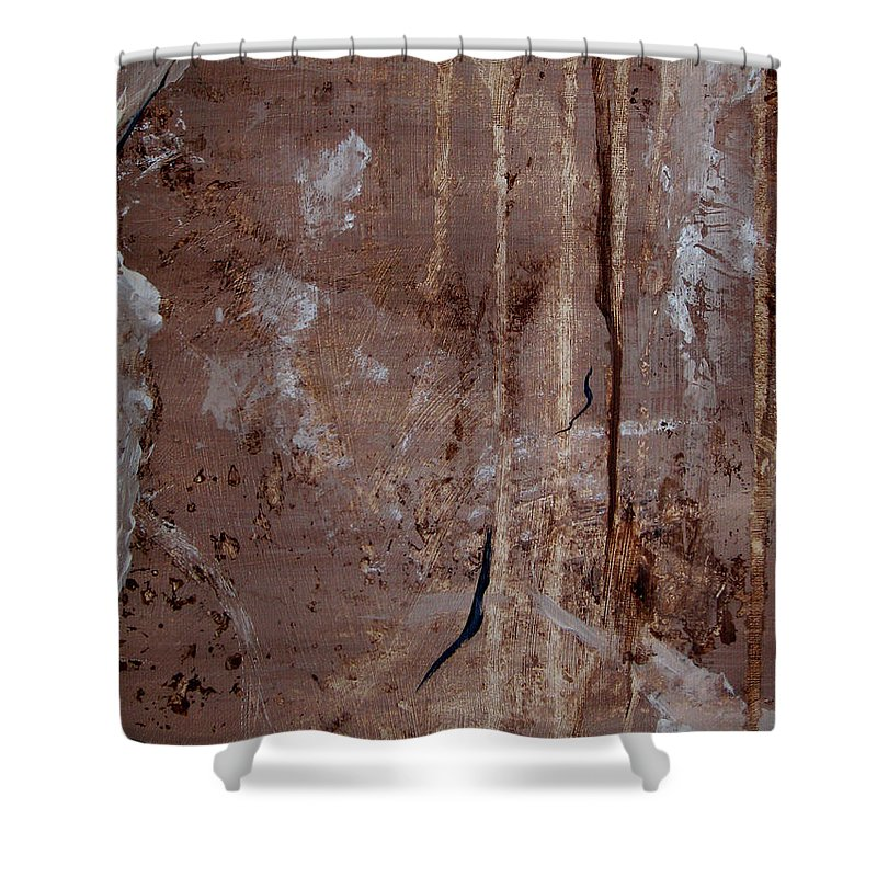Abstract Shower Curtain featuring the painting Freedom Of Expression II by Ruth Palmer