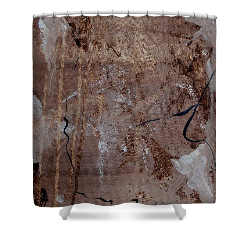 Abstract Shower Curtain featuring the painting Freedom Of Expression by Ruth Palmer