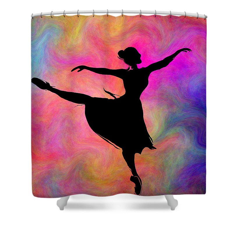 Ballet Shower Curtain Featuring The Digital Art Freedom Of Dance By Abstract Angel Artist Stephen