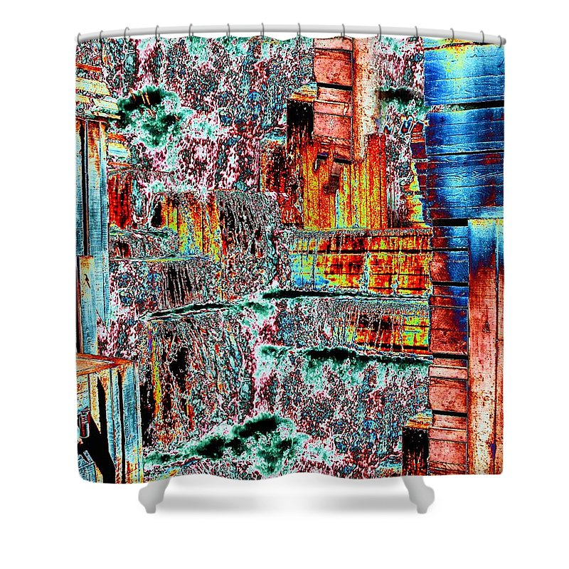 Seattle Shower Curtain featuring the photograph Freeway Park 6 by Tim Allen