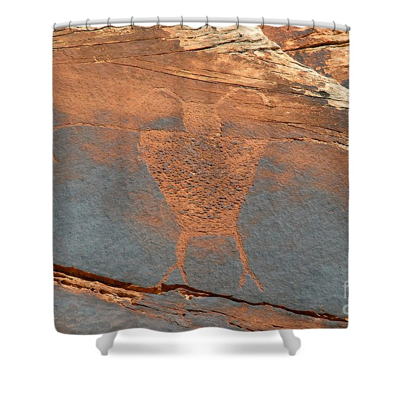 Petroglyph Shower Curtain featuring the photograph Fremont Man by David Lee Thompson
