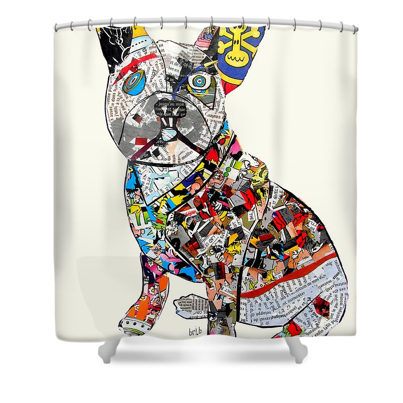 French Bulldog Shower Curtain Featuring The Painting By Bri Buckley
