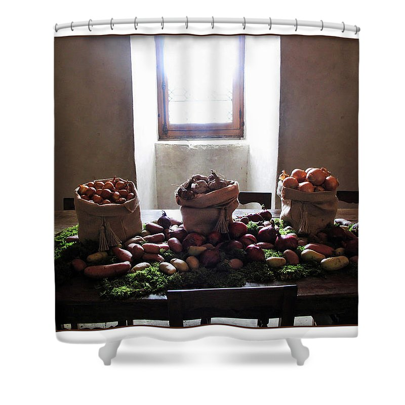 Kitchen Shower Curtain featuring the photograph French Kitchen by Joan Minchak