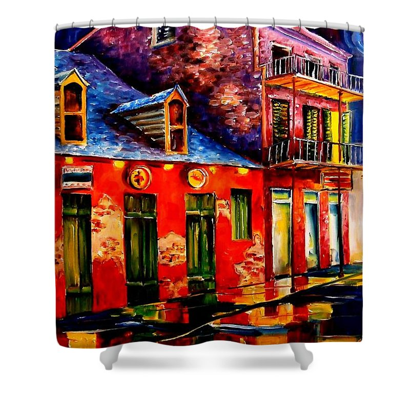 New Orleans Shower Curtain featuring the painting French Quarter Dazzle by Diane Millsap