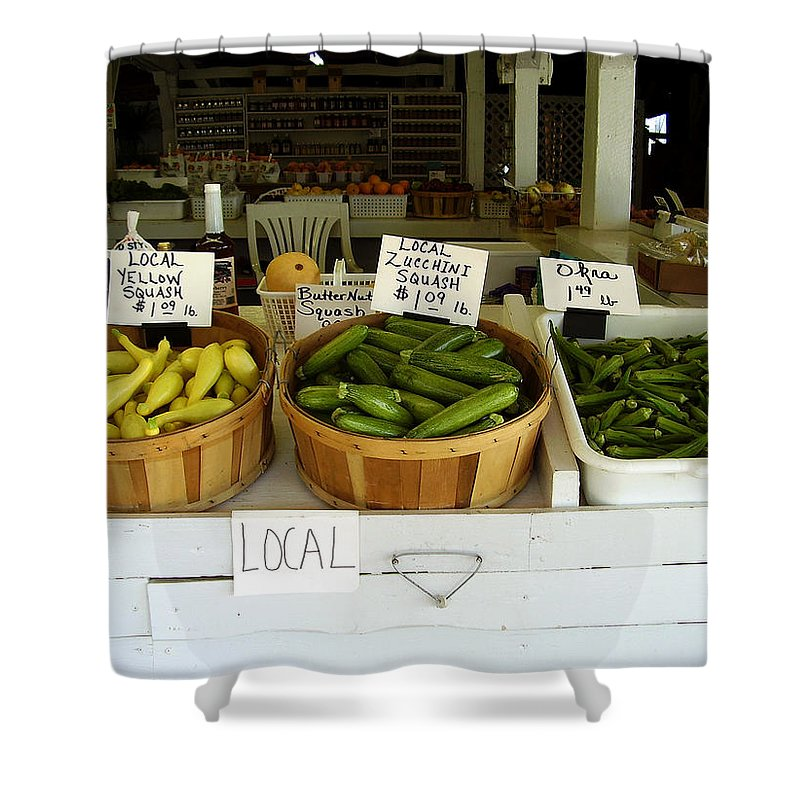 Fresh Produce Shower Curtain featuring the photograph Fresh Produce by Flavia Westerwelle