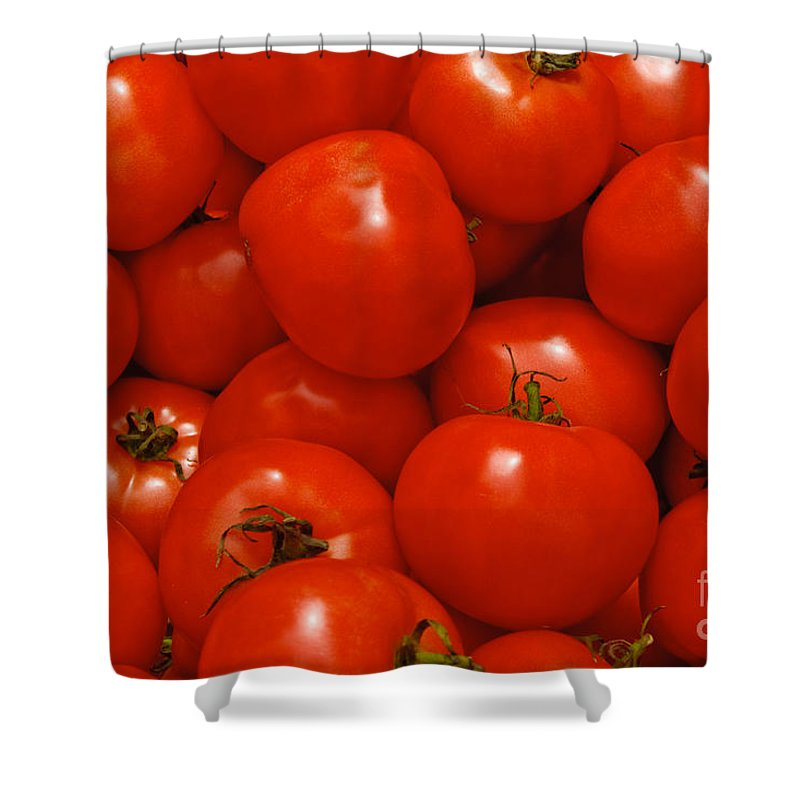 Tomato Shower Curtain featuring the photograph Fresh Red Tomatoes by Thomas Marchessault