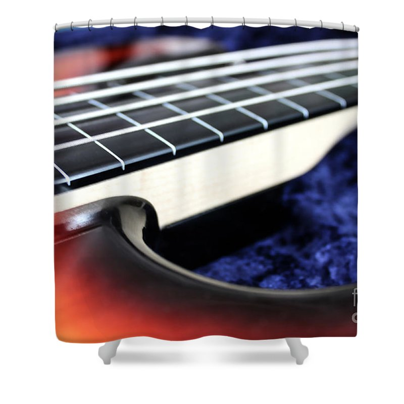 Still Life Shower Curtain featuring the photograph Fretless by Todd Blanchard