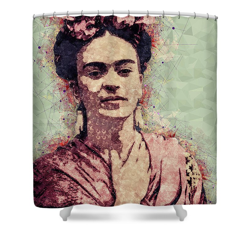 Frida Kahlo Shower Curtain Featuring The Mixed Media