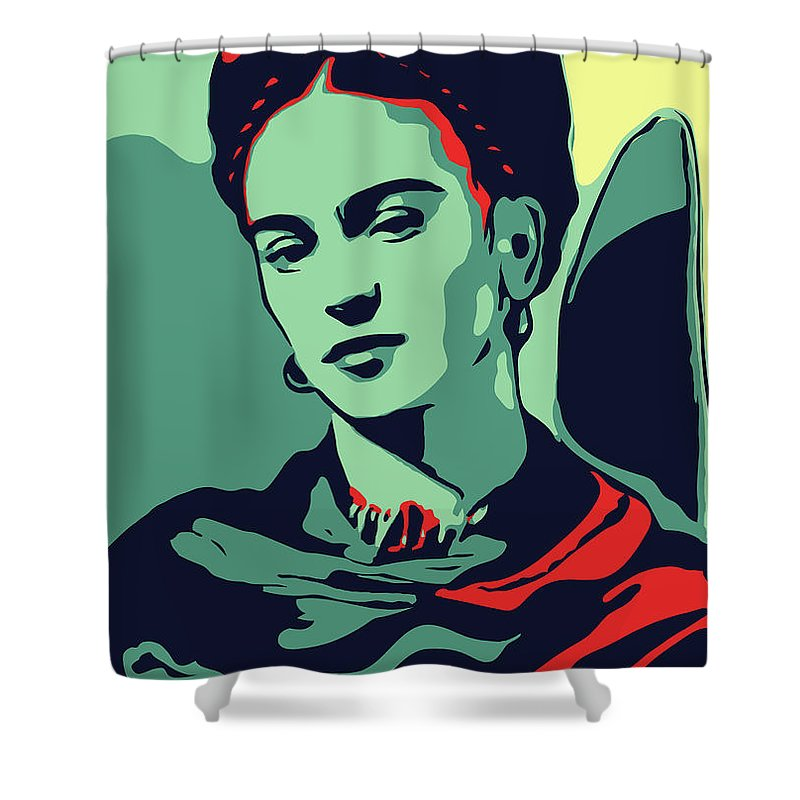 Frida Kahlo Shower Curtain Featuring The Digital Art By Greatom London